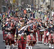 The Pipes and Drums of the Royal Scots Dragoon Guards by Chris Clark