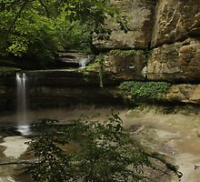 Upper and Lower LaSalle Canyon Falls by Adam Bykowski