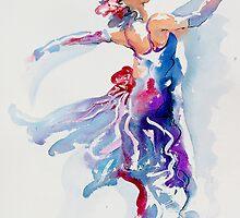 Grace in Purple and Blue by gerardo segismundo