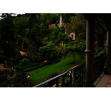 Quinta da Regaleira, view from the palace  Photographic Print