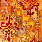 Orange Abstract by sadeyedartist