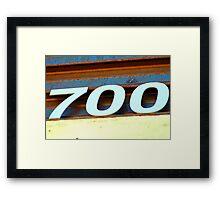 Seven Hundred Framed Print