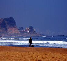 The Sea - Man on the Beach by Daidalos