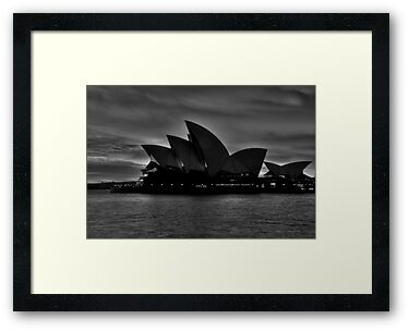 Black and White Aria - Sydney Opera House - The HDR Experience by Philip Johnson