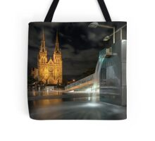 Wet Night on the Edge of the City Tote Bag
