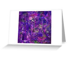 Busy Purple Greeting Card