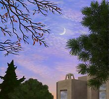 A View of the Moon at Twilight South of the Park by Maxie Antinone