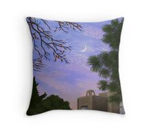 A View of the Moon at Twilight South of the Park Throw Pillow