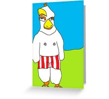 Young Rooster in Trunks Greeting Card