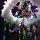cristal heart in feather by KERES Jasminka