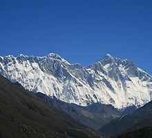 Everest above the Nuptse-Lhotse Wall by Richard Heath