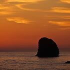 Pacific Ocean Sunset and Sea Stacks by Jeff Goulden