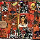 Frida Kahlo Celebrating Dias De La Muertos.. by RobynLee