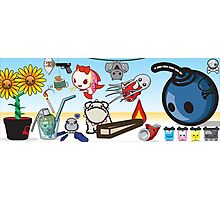 mikoto's 2nd birthday banner  Photographic Print