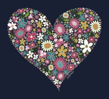 Spring Flowers Valentine Heart 2  Kids Clothes
