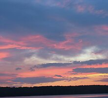 Pink and Blue Sunset at Lake CatchaComa by Robert Burns