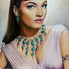 Anne Baxter Color Pencil @ www.KeithMcDowellArtist.com  by  Keith McDowell, Artist