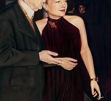 Frank Lloyd Wright and Anne Baxter @ www.KeithMcDowellArtist.com  by © Keith McDowell, Artist