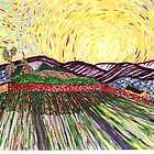 Wheat Field with Rising Sun by MerrilynW