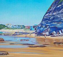 Susan Gilmore Cliffs, Newcastle, NSW, Australia by Carole Elliott