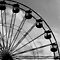 Fun Fair Wheel in Black & White by Lynn Ede