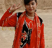 Uyghur Woman by Pete Foley
