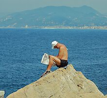 On the top of the world. Italy, Ligurian sea by loiteke