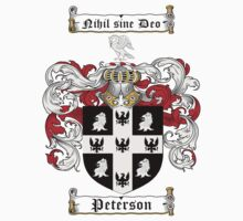 Peterson Family Crest / Peterson Coat of Arms T-Shirt by coatofarms