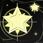 Golden Star At Night by regidesigns