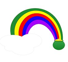 Pot of Gold Over The Rainbow by regidesigns