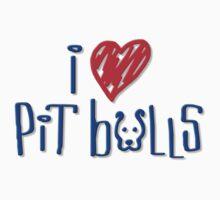 I Love Pit Bulls (Light Colors) Kids Clothes