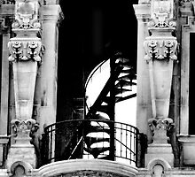 Spiral Staircase in the Tower by Bob Wall