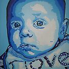 Pop art portrait of baby Ted by db artstudio by Deborah Boyle