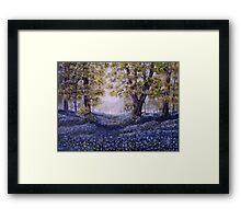 """Mary's Bluebells"" - oil painting Framed Print"