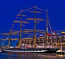 Sail Boston - Kruzenshtern  by LudaNayvelt