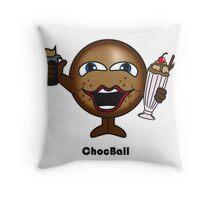 Choc Ball Throw Pillow