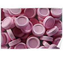 pink lollies Poster