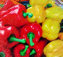 Peppers In Pencil by Dave Lloyd