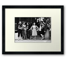 Waiting to Cross Framed Print