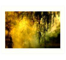 Misty Willow Art Print