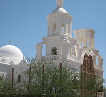 San Xavier from the West by Michael Cohen