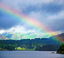 Rainbow Over Windermere by David Bradbury