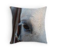 Through the Eye of a Horse Throw Pillow