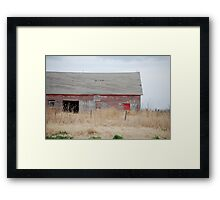 Rare Red Barn in Kansas Framed Print