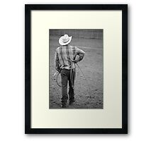 Cowboy Waits Framed Print