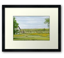 Kansas Country Solitude Framed Print