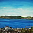 """""""View of Hog island, Cappa"""" - Oil Painting by Avril Brand"""