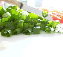 Cutting spring onions by Rowan  Lewgalon