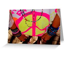 Color my life with peace Greeting Card