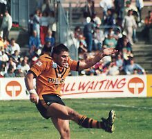 David Brooks - Balmain Tigers by DamienGarth